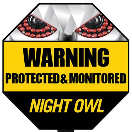 Night Owl Reflective Outdoor Yard Stake Sign A Gyss