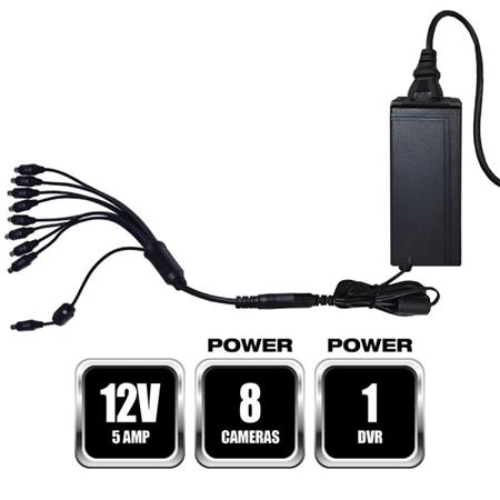 Night Owl Security Camera Power Adapter With 4-Way Power Splitter