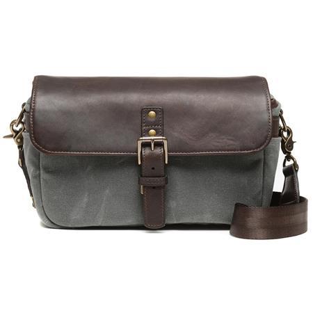 72a4e010b0e3 ONA The 50/50 Bowery Leather/Waxed Canvas Camera Messenger Bag, Smoke/Dark  Truffle