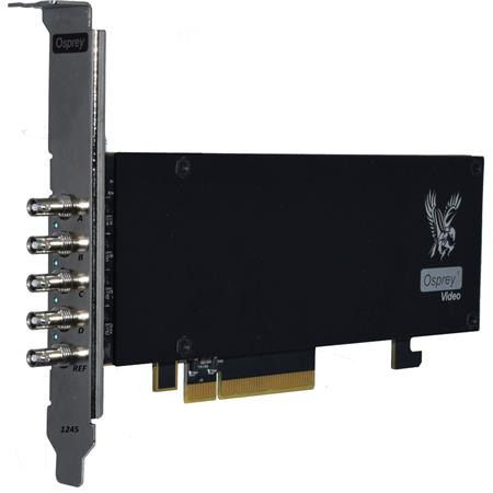 Osprey Video Raptor Series 1245 PCIe Capture Card with 4-Channel 12G-SDI  I/O and Genlock