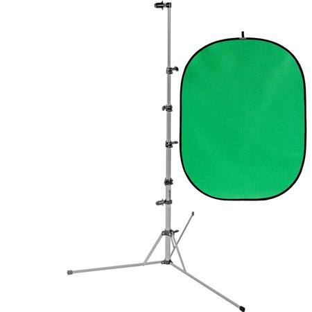 Padcaster Green Screen Bundle, Consists of Botero 026 5x7' Collapsible  Background Chroma Green and Westcott Background Support Stand