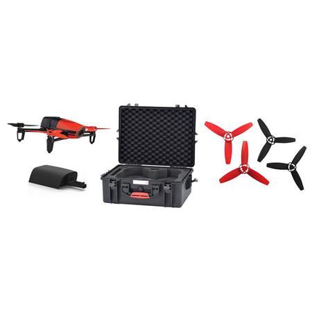 Parrot BeBop Drone Quadcopter with Skycontroller Bundle, Capture 1080p  Video, Red - Bundle with Bebop & SkyController Spare Battery, Spare Bebop  Drone