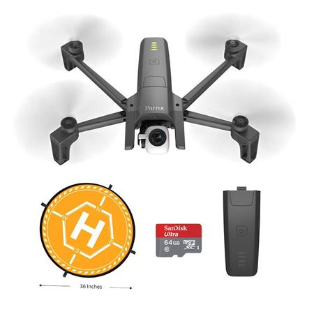 Parrot ANAFI Drone with 21MP 4K HDR Camera and Skycontroler 3 With  Accessory Kit