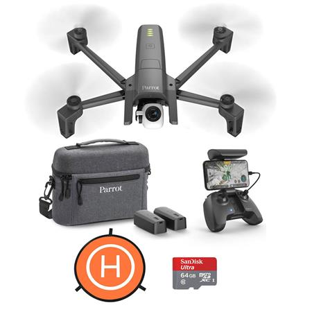 Parrot ANAFI 4K Portable Drone Ext Combo Pack W/64GB MicroSDXC card/Landing  Pad