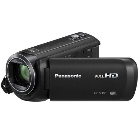 Panasonic HC-V380K Full HD Camcorder with Wi-Fi, 50x Stabilized Optical  Zoom, Black
