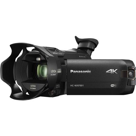 Panasonic HC-WXF991K 4K Ultra HD Camcorder with Wi-Fi, Built-In Multi Scene  Twin Camera and Electronic Viewfinder, Black
