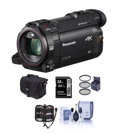 Panasonic HC-WXF991K 4K Ultra HD Camcorder with Free Accessory Bundle