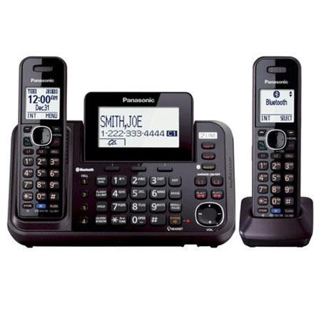 1457919f2c7 Panasonic KX-TG9542B 2-Line Link-to-Cell Digital Cordless Phone with ...