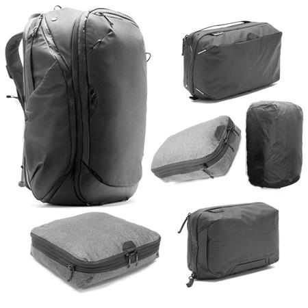 Peak Design Travel Bundle with 45L Travel Backpack (Black) e1db881bc4