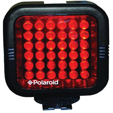 Polaroid Studio Series IR Light Bar Rechargeable 36 IR LED Light for Use w// All IR Compatible Cameras /& Camcorders Includes Diffuser Lens Charger /& Hot Shoe Mount Built-In Li-Ion Battery