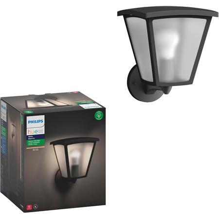 Philips Hue Inara Outdoor Led Wall Lantern Sconce With Wireless A19 Smart E26 Base Light Bulb