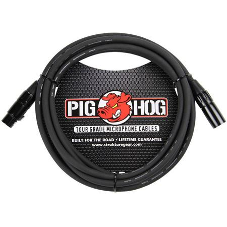 Pig Hog 8MM 15FT XLR Male to Female High Performance Tour Grade Cable Black