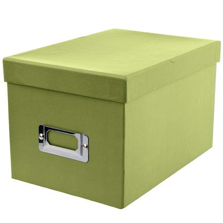 Good Pioneer Photo CD U0026 DVD Storage Box With Solid Color Exterior, Holds 21 CDs  U0026 10 DVDs, Color: Sage Green.