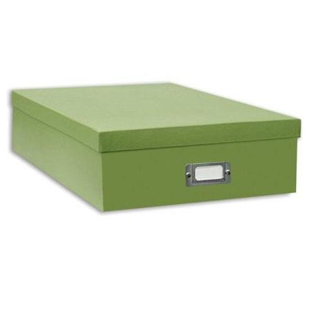 Pioneer Scrapbooking Storage Box With Solid Color Exterior 1325W X 1475L 4H Bright Green