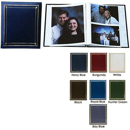 Pioneer Post Bound, Clear Pocket Photo Album with Solid Color Covers, Holds  12 - 5x7
