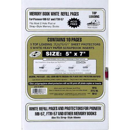 Pioneer Rw57 Deluxe E Z Load Refill Pages 5x7 Inch Rw57