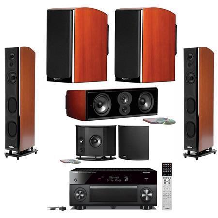 polk lsim speaker home theater bundle mt ver cherry. Black Bedroom Furniture Sets. Home Design Ideas