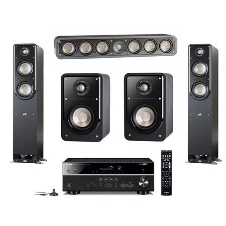 Polk Audio 2X Signature S50 Home Theater Tower Speaker Bundle