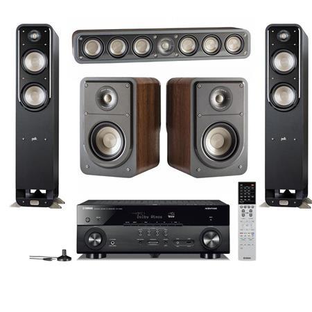 polk audio 5 speaker home theater system with yahama 7 2 channel av Polk Audio Stereo Systems polk audio s55 picture 1 regular