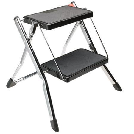 Strange Polder 2 Step Mini Stool Chrome Inzonedesignstudio Interior Chair Design Inzonedesignstudiocom