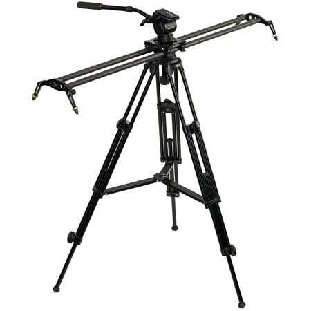 Large Size Black Camera Tripod Easy to Install Camera Accessories Heavy Duty Video Camera Tripod Action Fluid Drag Head with Sliding Plate for DSLR /& SLR Cameras Color : Gold