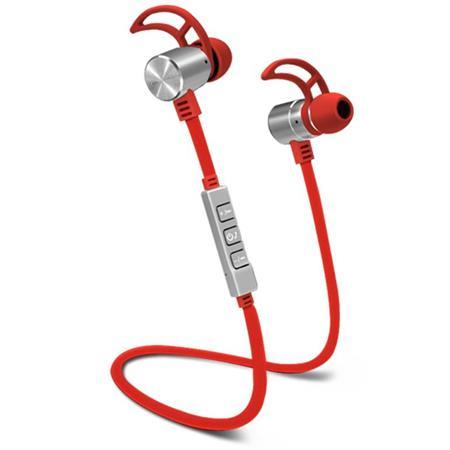 49eb5d4ce8c POM Gear PRO2GO P100 Wireless Bluetooth Earbuds with Inline Mic, Red ...