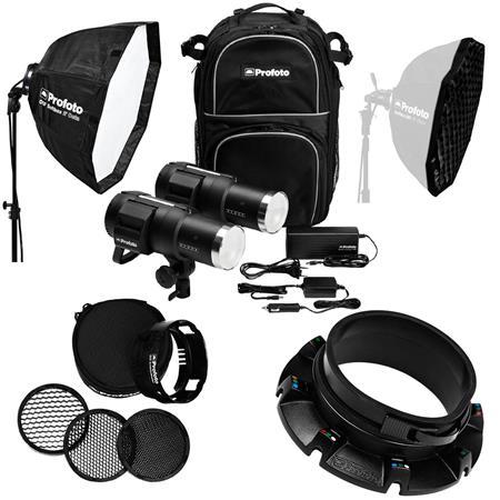 Profoto B1 500 Air TTL 2-Light Location Kit, FREE! Off-Camera Flash  Speedring, OCF 2' Beauty Dish with Deflector Plate White, 2' Octagonal  Off-Camera