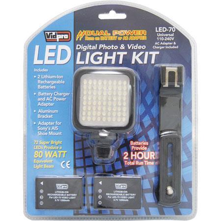 Vidpro Led 70 Digital Photo Video Led Light Kit Led 70