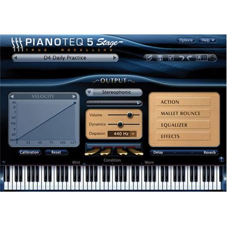 Pianoteq 5 Stage Virtual Piano Software, Electronic Download