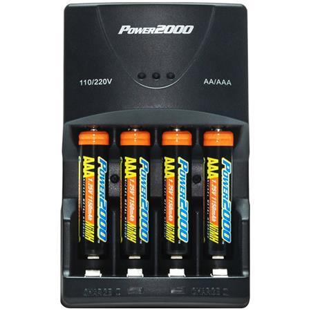 Power2000 4aaa Nimh 2900mah Batteriescharger 110220v Xp350