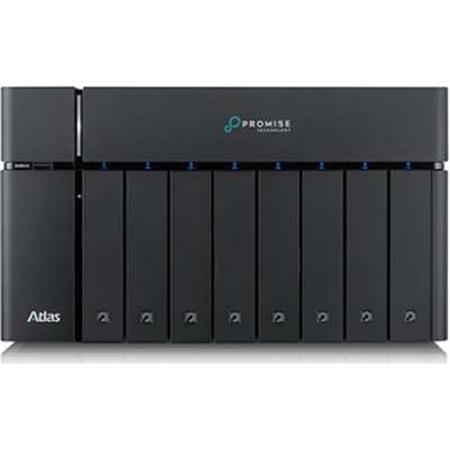 Promise Technology Atlas S8+ 8-Bay NAS Server with 112TB (8x 14TB) SATA HDD  and 2x Thunderbolt 3