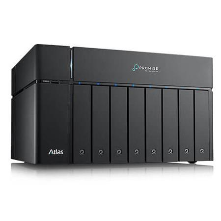 Promise Technology Atlas S8+ 80TB (8x 10TB) 8-Bay SATA 3 NAS Server, 10Gb/s  Ethernet, RAID and JBOD