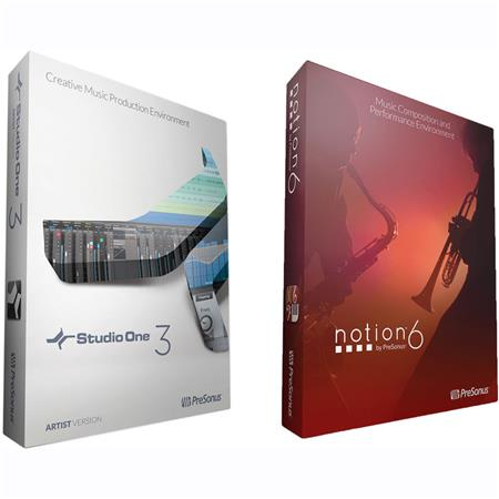 PreSonus Pro Bundle, Includes Notion 6 and Studio One 3 Professional  Software