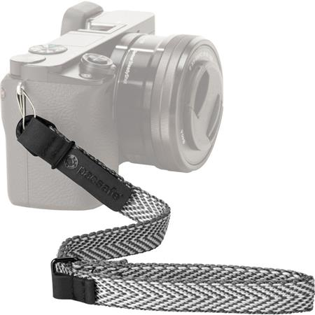 Pacsafe Carrysafe 25 Anti-theft Compact Camera Wrist Strap, Neutral Gray