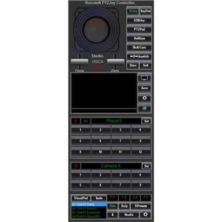 PTZOptics Rocosoft PTZJoy Studio Camera Controller Software for PC