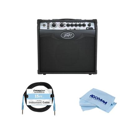 Peavey Vypyr VIP 1 20W RMS Modeling Guitar Amplifier, - With Pyle PCBL1F12  12ft 1/4