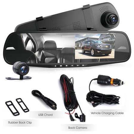 PYLE-CAR AUDIO//VIDEO PLCMDVR49 DVR REARVIEW MIRROR DASH CAM