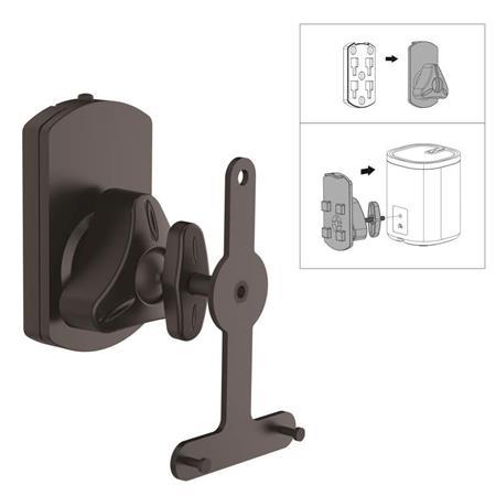 New Pyle PSTNDSON08 Universal Wall Mount Speaker Stand Tilt//Swivel Adjustable