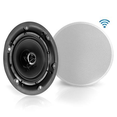 Pyle Pwrc63bt 2 Way 6 5 In Ceiling Speakers Bluetooth Receiver 300w Pair Pwrc65bt