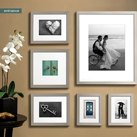 prinz gallery expressions wood frame 11x14 matted to 8x10 photo nickel