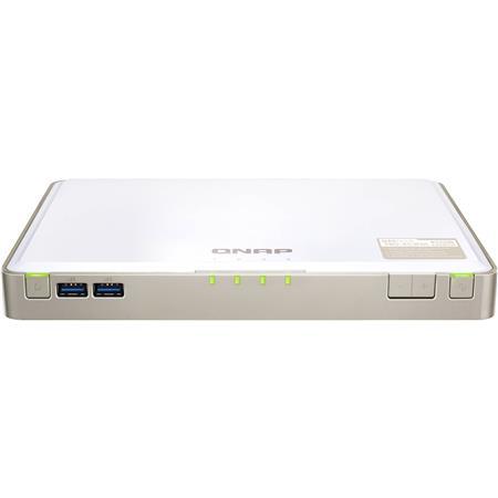 Qnap TBS-453DX 4-Bay M 2 SATA SSD NASbook, Intel Celeron J4105 4-Core  1 5GHz, 4GB DDR4 RAM