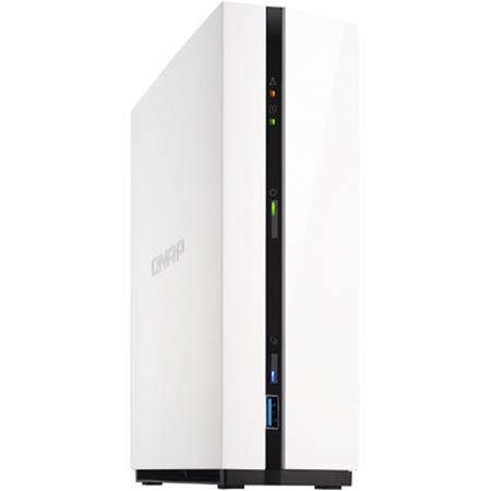 Qnap TS-128A 1-Bay NAS Enclosure, ARM RTD 1295 Quad-Core 1 4GHz, 1GB RAM