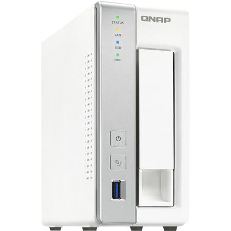 Qnap TS-131P 1-Bay Personal Cloud NAS Enclosure with DLNA, ARM Cortex A15  Quad-Core 1 7GHz, 1GB RAM