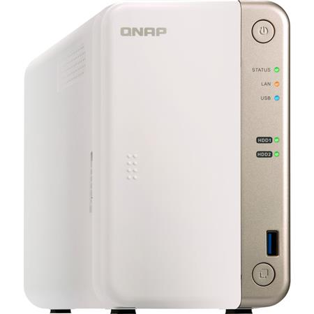 Qnap TS-251B 2-Bay Home/SOHO NAS with PCIe Expansion Slot, 4GB RAM (1x  4GB), Supports 2x 3 5