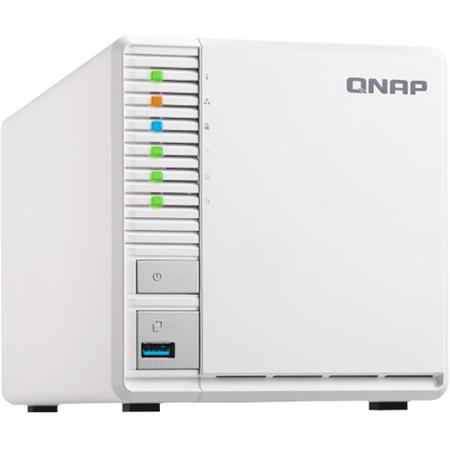 Qnap TS-328 3-Bay Personal Cloud NAS Enclosure, ARM RTD 1296 Quad-Core  1 4GHz, 2GB RAM