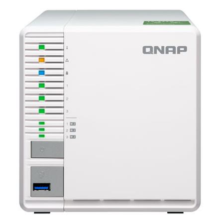 Qnap TS-332X 3-Bay 64-Bit 10GbE NAS with 3x M 2 SSD Slots, 2GB RAM,  Supports 3x 3 5
