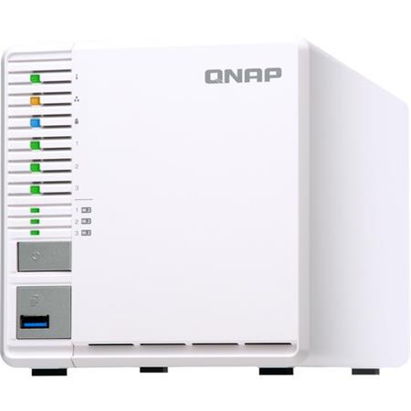 Qnap TS-332X 3-Bay 64-Bit 10GbE NAS with 3x M 2 SSD Slots, 4GB RAM,  Supports 3x 3 5