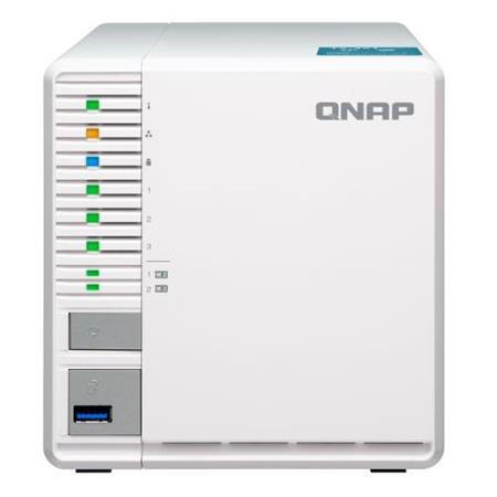 Qnap TS-351 3-Bay Personal Cloud NAS Enclosure, Ideal for RAID5 Storage,  Intel Celeron Dual-Core 2 4GHz, 4GB RAM