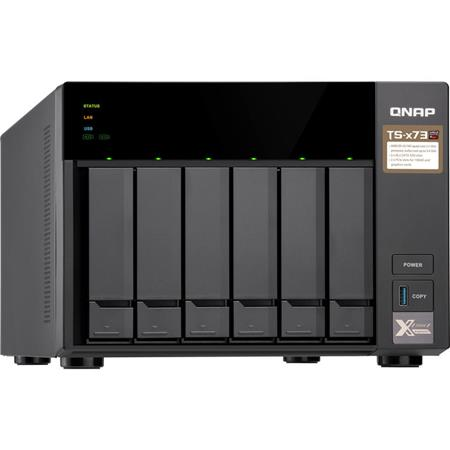 Qnap TS-673 6-Bay NAS Enclosure/iSCSI IP-SAN, AMD RX-421D Quad-Core 2 1GHz,  4GB RAM