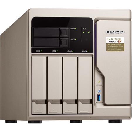 Qnap TS-677 6-Bay (4+2) High-Performance NAS Enclosure, AMD Ryzen 5 1600  6-Core 3 2GHz, 8GB RAM